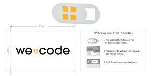 webcam abdeckung mit logo bedrucken we code